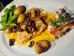 Festmat som tröst i ruskvädret: gös med brynt smör och hummertoast