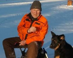 Lars Göran med hund