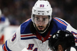New York Rangers center Mika Zibanejad. Arkivbild.